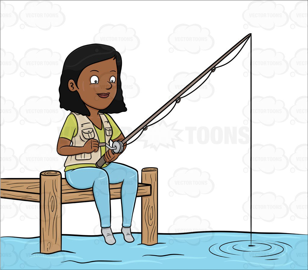 Girl fishing clipart 2 » Clipart Station.