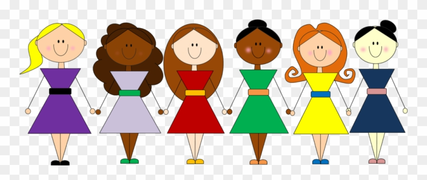 Group Clipart Friendship 8 Girl Friends.