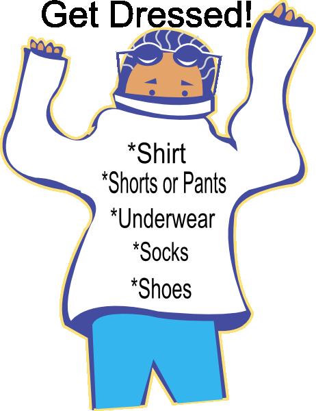 Chore: Get Dressed Clip Art at Clker.com.
