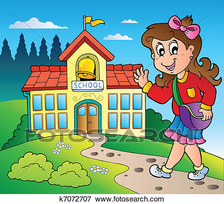 Girl going to school clipart 3 » Clipart Station.