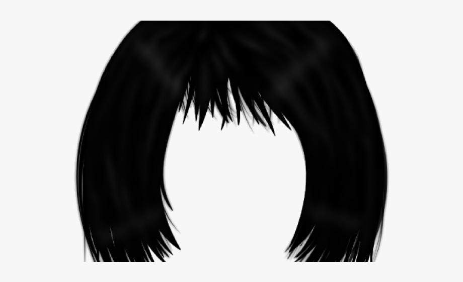 Black Hair Clipart Transparent.