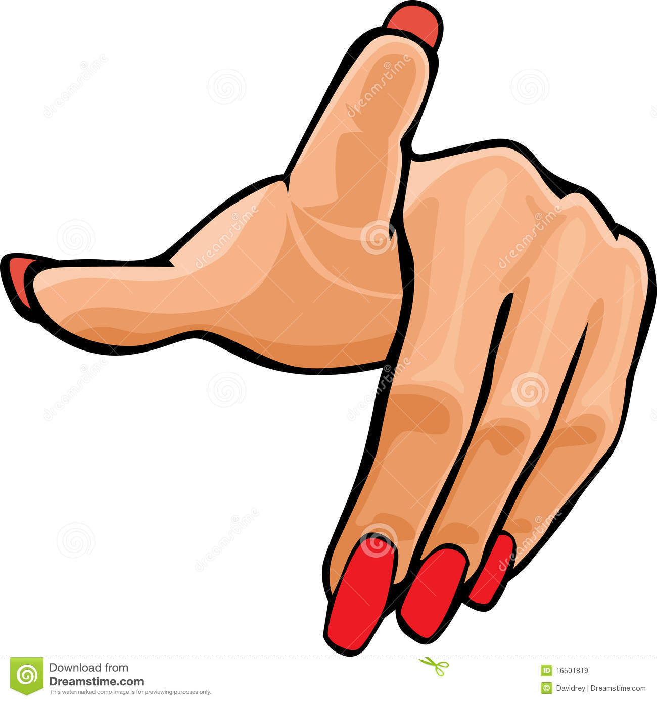 Woman Hand Clipart.