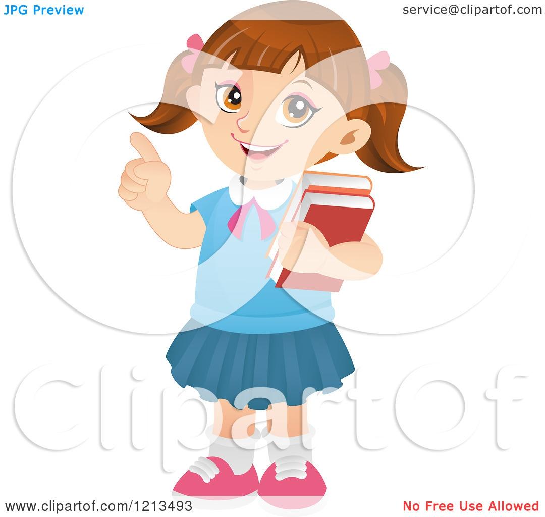 Smart Girl Clipart#2051327.