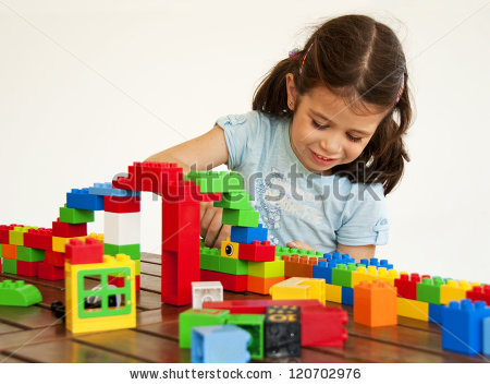 Kids Playing Lego Stock Photos, Royalty.