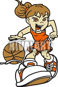 Girl Basketball Player Clipart.