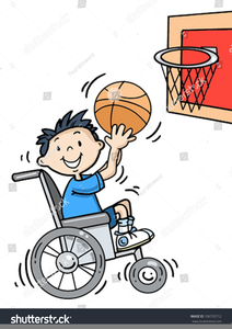 Clipart Girl Playing Basketball.
