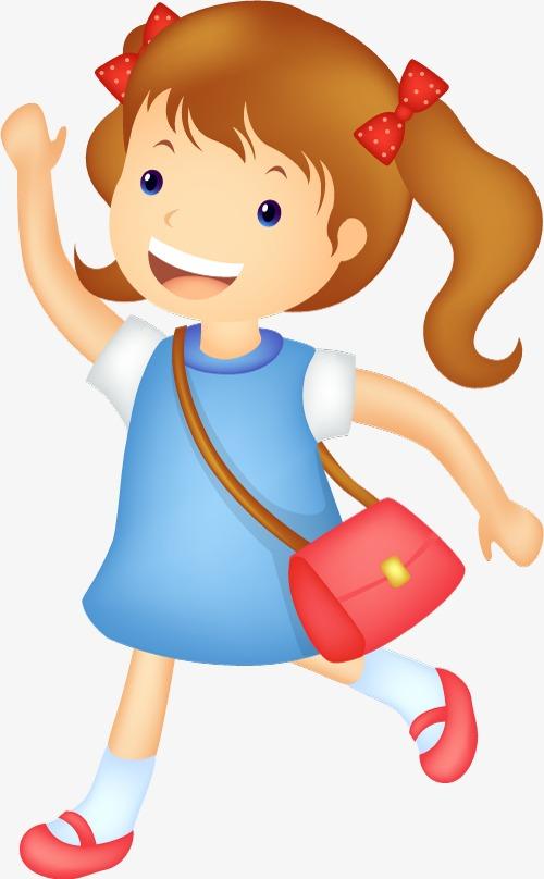 School Girl Png Clipart.