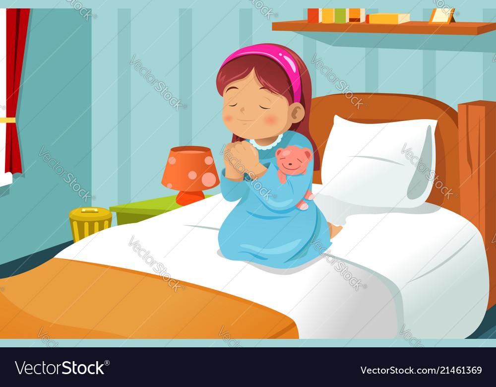 Little girl praying.