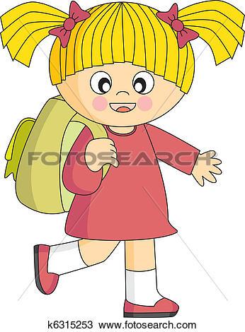 Clipart of Girl school k6315253.