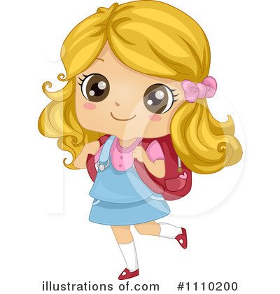 Clipart Of Little Girls In School.