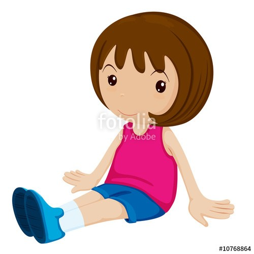 Girl sitting down clipart 1 » Clipart Portal.