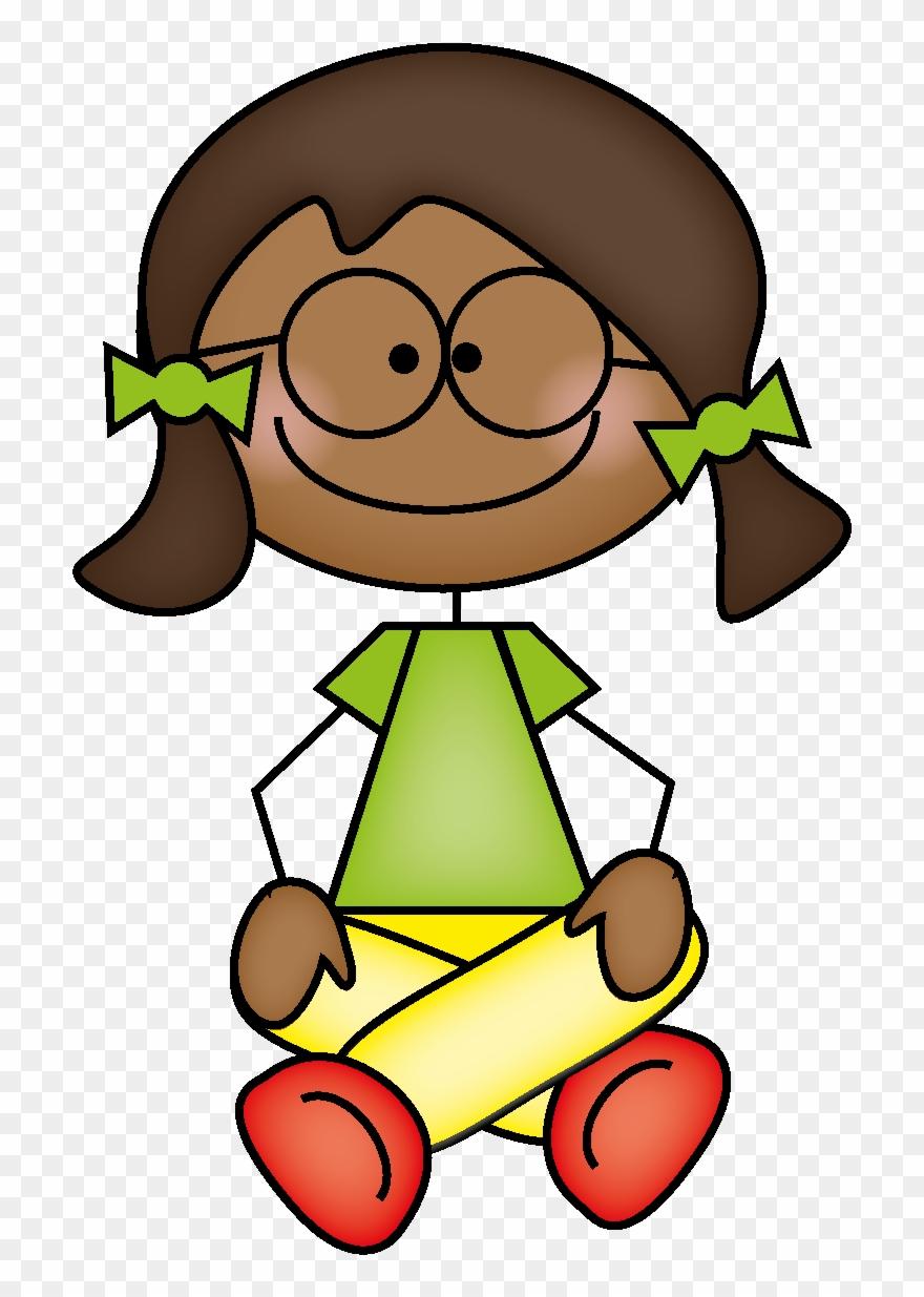 Clipart Of Girl Sitting Crisscross.