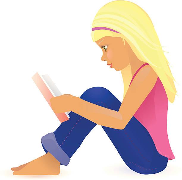 Best Girl Sitting On Floor Illustrations, Royalty.