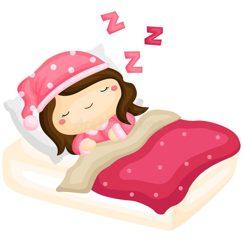 Girl Sleeping Stock Illustrations.