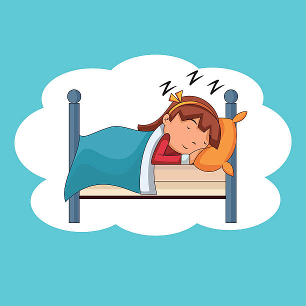 Best Sleeping Girl Illustrations, Royalty.