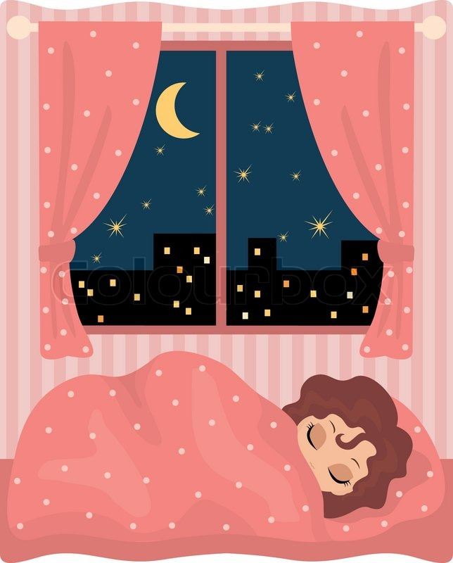 clipart girl sleeping in bed - Clipground