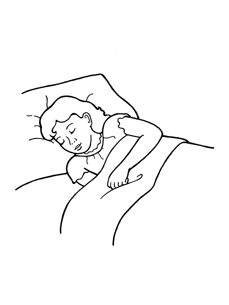 clipart girl sleeping in bed clipground
