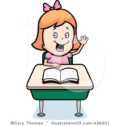 Girl Student Studying Clipart.