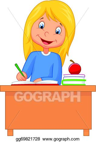 Girl Studying Clipart 26.