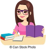 Girl studying clipart 2 » Clipart Station.