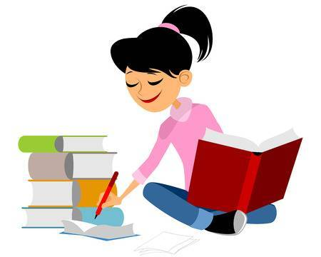 Girls studying clipart 3 » Clipart Portal.