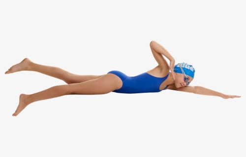 Free Girl Swimming Clip Art with No Background.