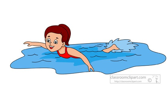 Girl Swimming Clipart at GetDrawings.com.