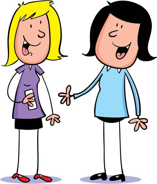 Best Two Girls Talking Illustrations, Royalty.