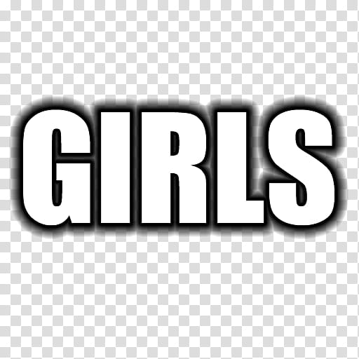 Wordcons, GIRLS text transparent background PNG clipart.