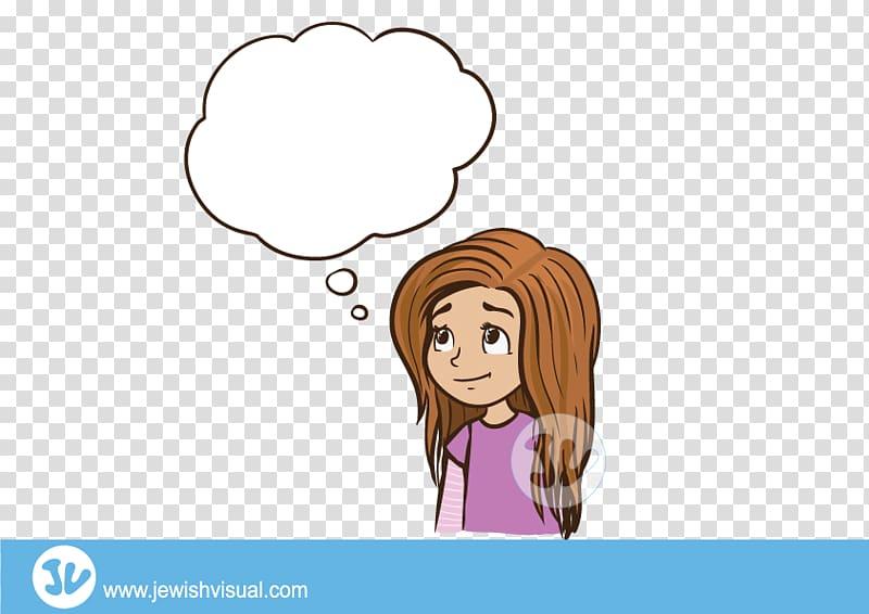 Purim Child Girl Female, thinking girl transparent.