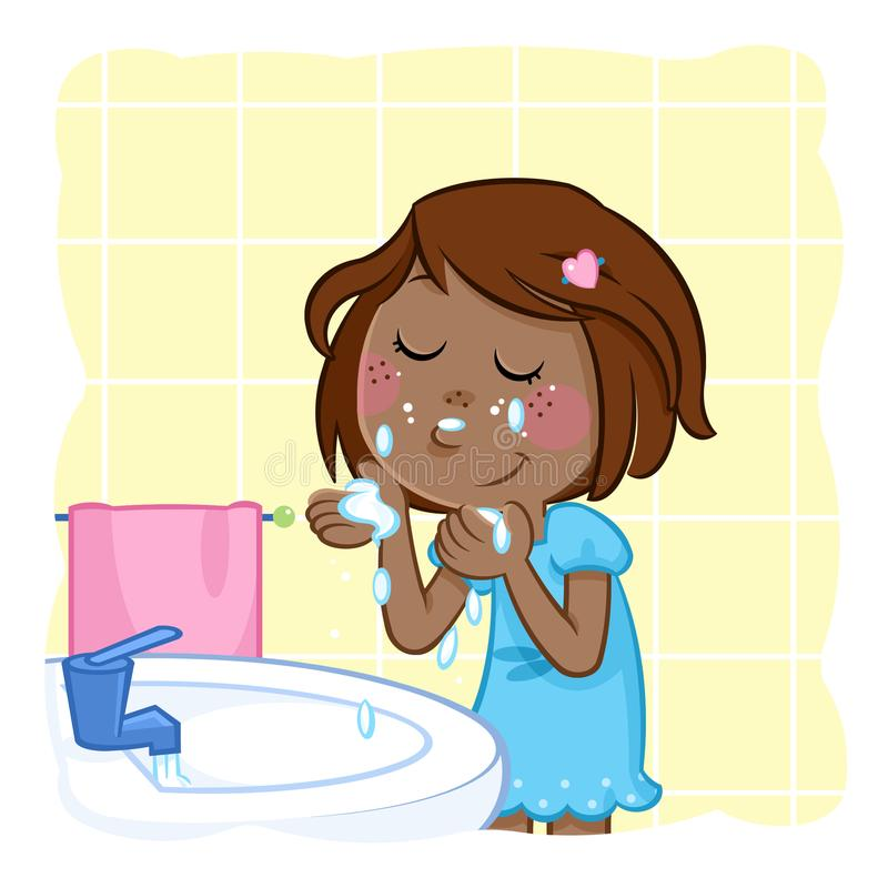 137 Washing Face free clipart.