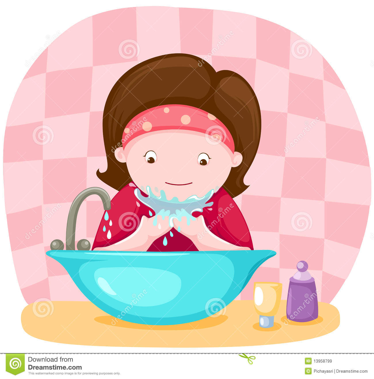Wash Face Clipart.