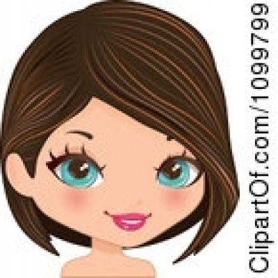 Clipart Girl With Brown Hair And Blue Eyes Clipground