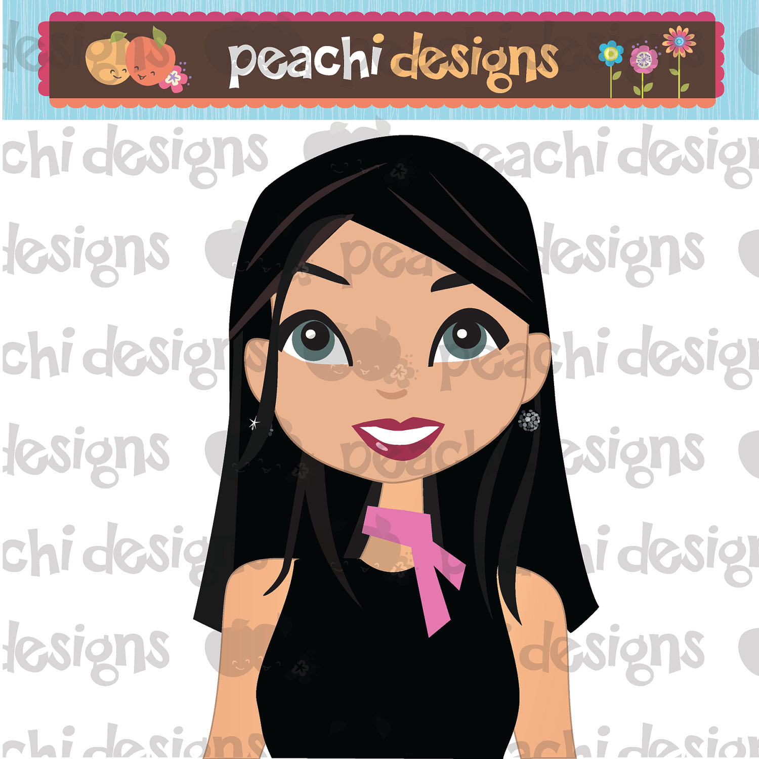 Clipart Girl With Long Black Hair And Blue Eyes 20 Free Cliparts