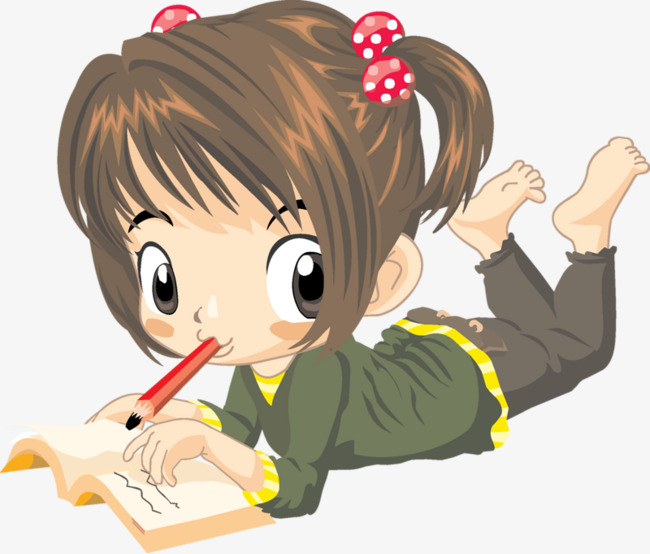 Little Girl Writing Clipart on GetDrawings.com.