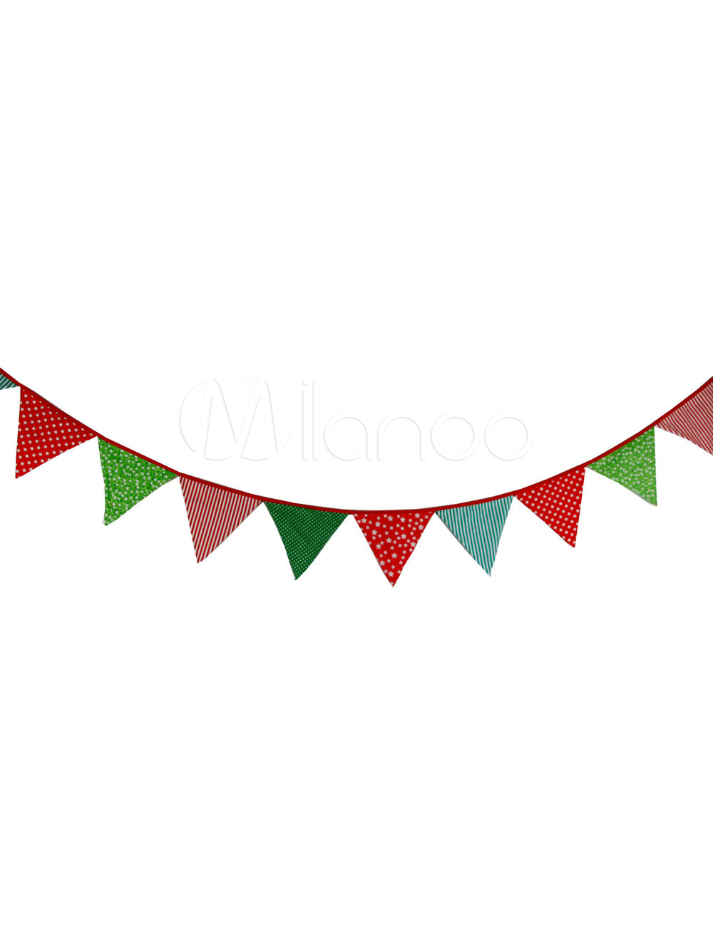Wedding Banner Flags Clipart Multicolor Triangle Printed Bunting Decorations.