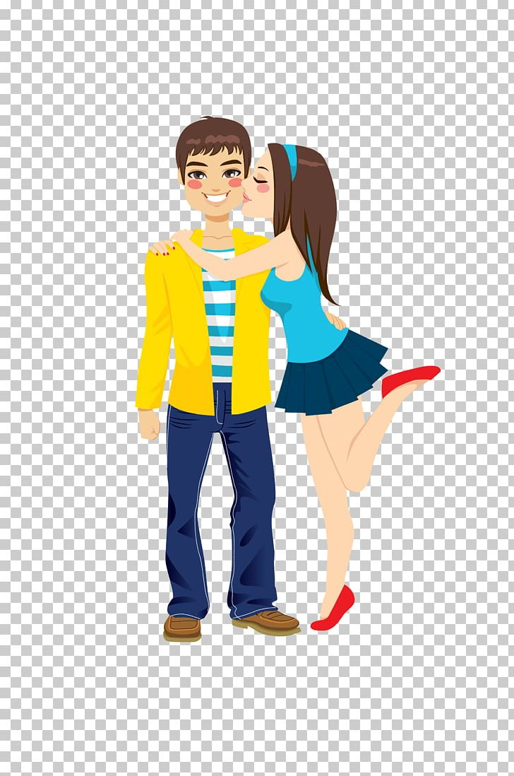 Girlfriend Boyfriend Kiss Romance PNG, Clipart, Boy, Cartoon.