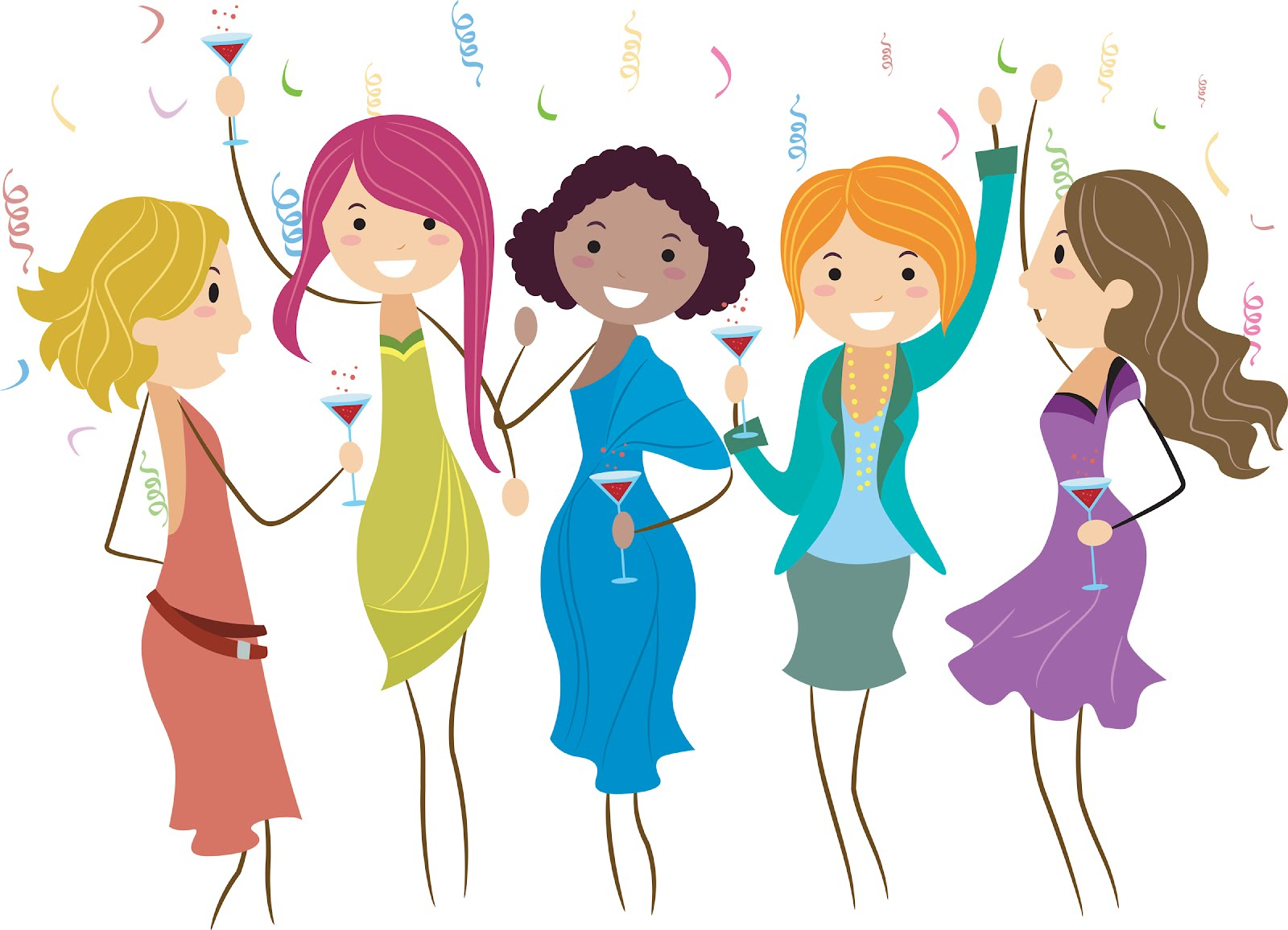 Girls Night Out Party Clip Art N2 free image.