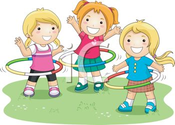 Clipart Of A Girl Playing.