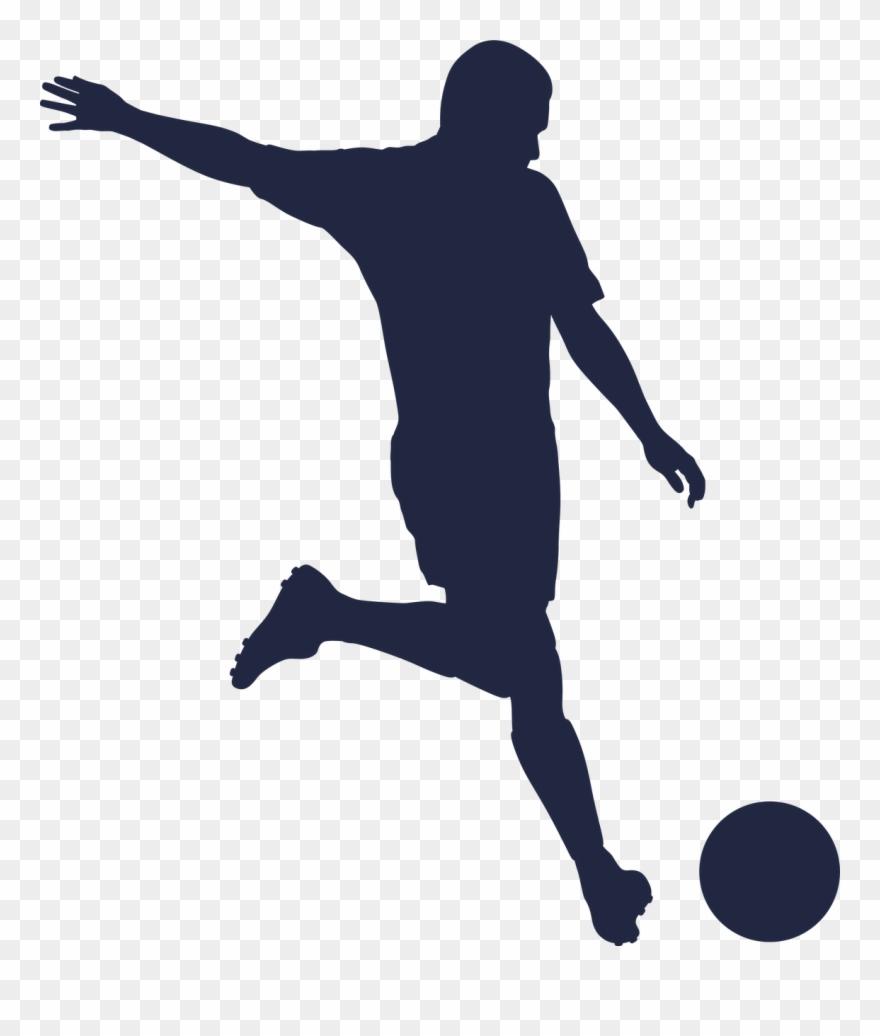 Girls Soccer Silhouette.