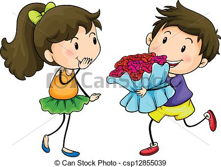 clipart giving flowers #13