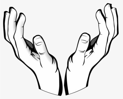 Free Open Giving Hands Clip Art with No Background.