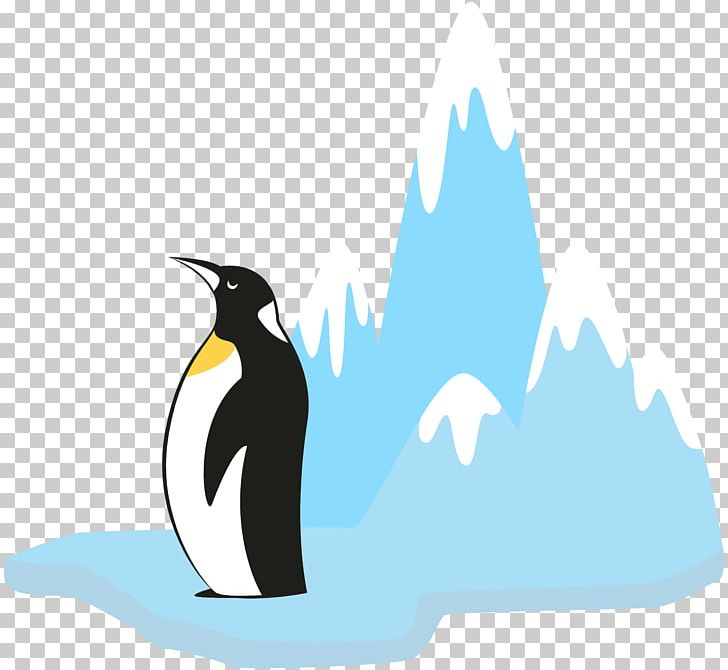 King Penguin Glacier PNG, Clipart, Beak, Bird, Cartoon.