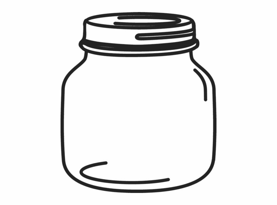 Petite Mason Jar Rubber Stamp.