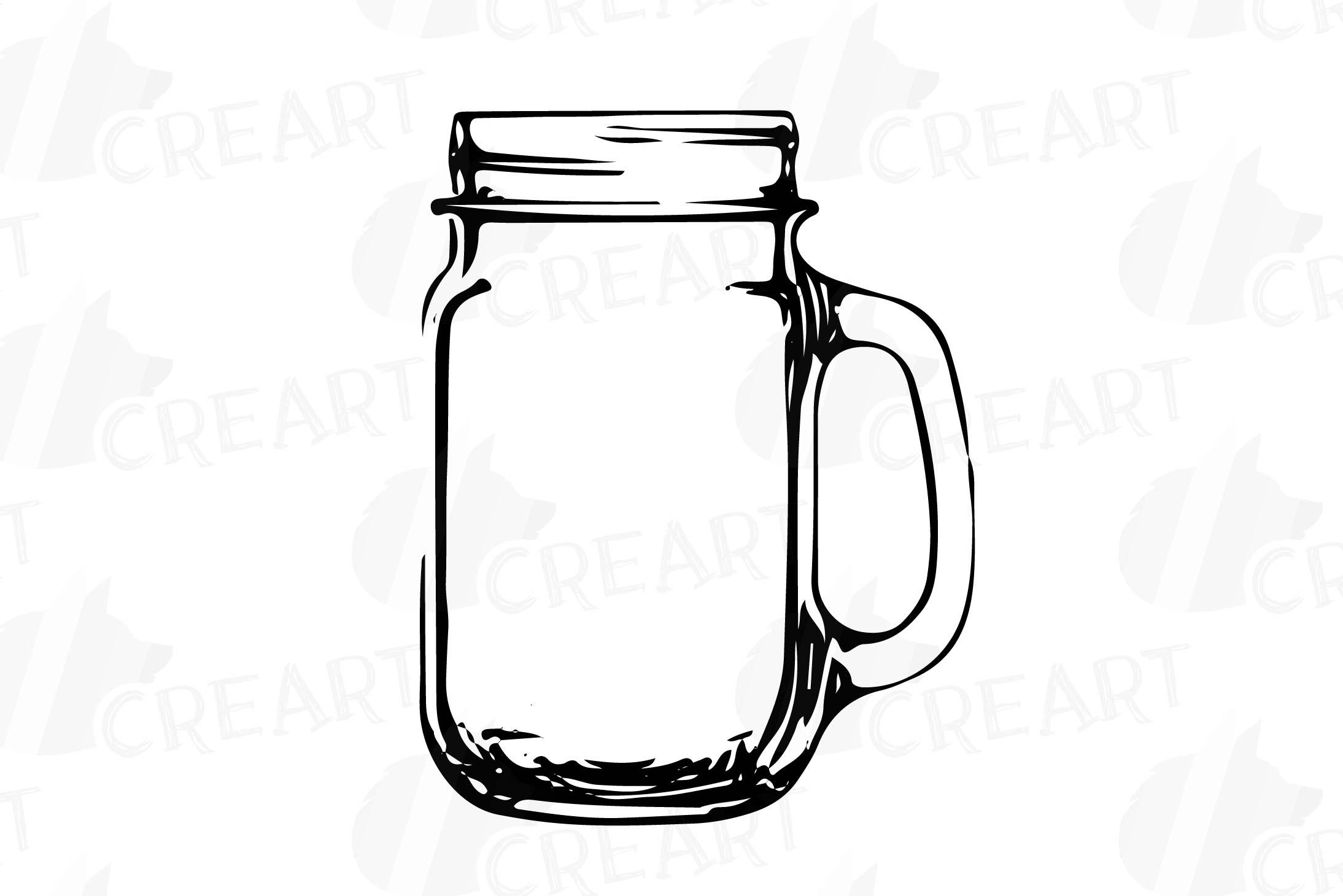 Mason Jars clipart, Glass Jars clip art, Jar crafts, Jar sil.