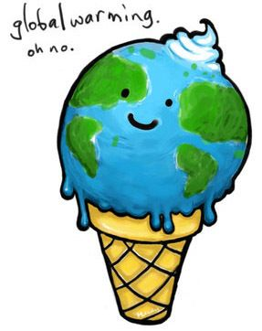 Global Warming ice cream cone Clipart » Geography » global.