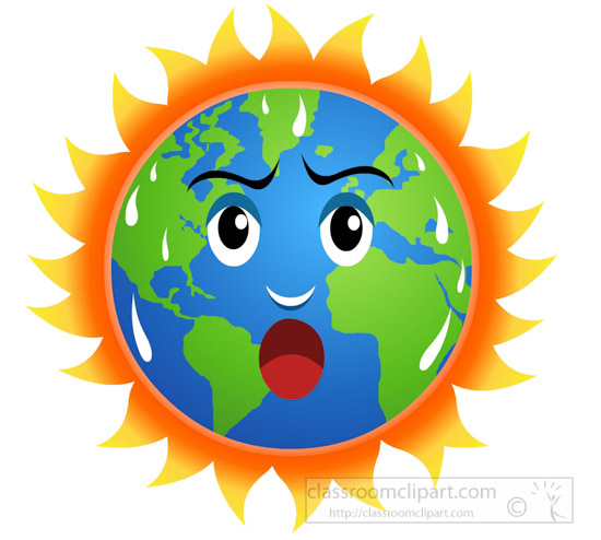 Earth Global Warming Clipart.