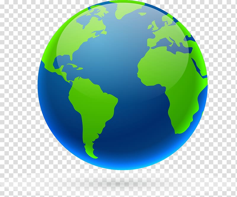 World map Globe World clock, earth transparent background.