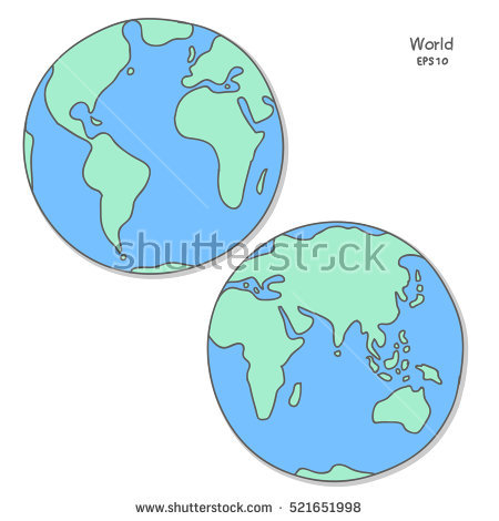 Globe Sketch Stock Images, Royalty.
