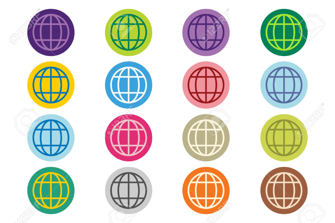 Globe Earth Logo. Globe Icon. Globe Vector. Globe Illustration.